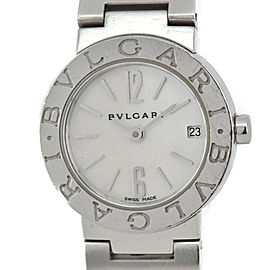 BVLGARI BB23SS White shell Dial Stainless Steel Quartz Wome's Watch