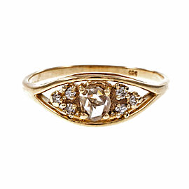 14K Yellow Gold with 0.33ct Diamond Ring Size 7.25