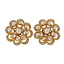 Hammerman Brothers 14K Yellow Gold & Pearl Circle Cluster Earrings