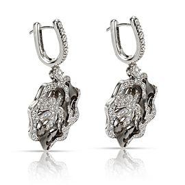Zydo Diamond Drop Earrings in 18KT White Gold 1.87 ctw