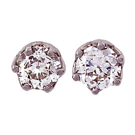 Peter Suchy Platinum Diamond Womens Earrings