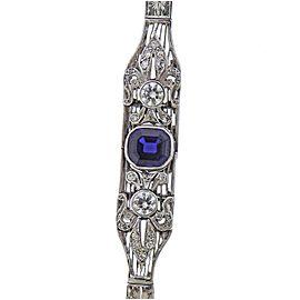 Art Deco Platinum Damond Sapphire Bracelet