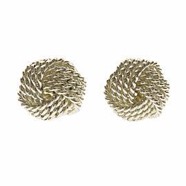 TIFFANY & Co. Silver Mesh ball earring
