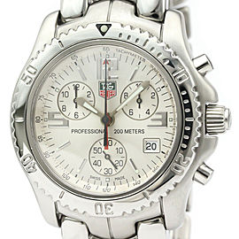 TAG HEUER Steel Link Chronograph Watch HK-2043