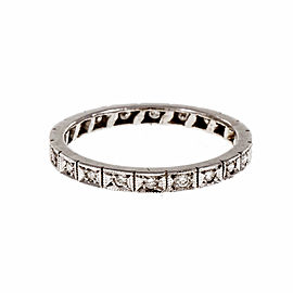 Vintage Art Deco Platinum Diamond Eternity Band Ring Size 6.5
