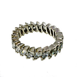 Vintage Platinum 1.50ct Marquise Diamond Eternity Ring Size 6.75