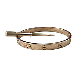 696029108013 Cartier Love 18K Rose Gold Bracelet Size 17