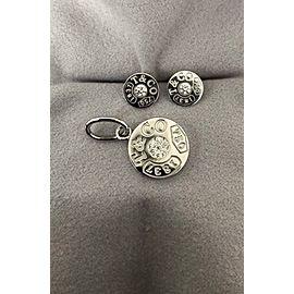 Tiffany & Co. 1837 18K White Gold Diamond Pendant and Earrings