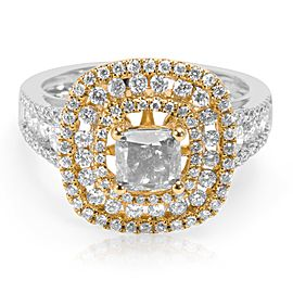 BRAND NEW Brown Diamond Engagement Ring in 18K 2 Tone Gold (1.81 CTW)