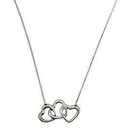 Tiffany & Co. Sterling Silver 3 Hearts Pendant Necklace