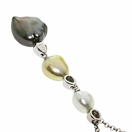 MIKIMOTO 18K White Gold Pearl Pearl Necklace TNN-2023