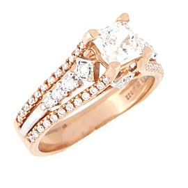 18K Rose Gold Diamond Engagement Ring Size 5.75