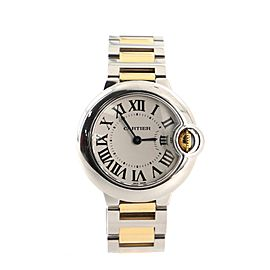 Cartier Ballon Bleu De Cartier Quartz Watch Stainless Steel and Yellow Gold 29