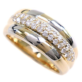 18k yellow gold/Platinum/diamond Ring