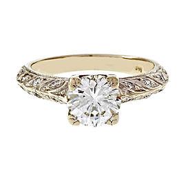 14K White Gold 1.07ct Diamond Ring Size 5.5