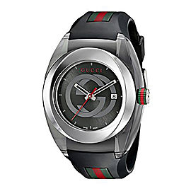 Gucci Sync YA137101 Stainless Steel & Rubber 46mm Watch