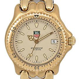 TAG HEUER S/el WG1230 Professional 200M Gold Plated Quartz Boy's Watch