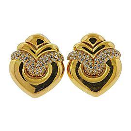 Bulgari Doppio Cuore Diamond Gold Earrings
