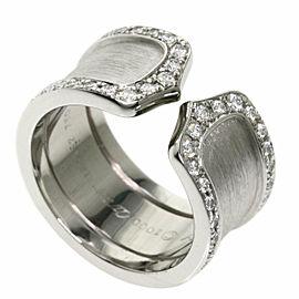 CARTIER 18k White Gold Diamond C2 LM Edge Ring