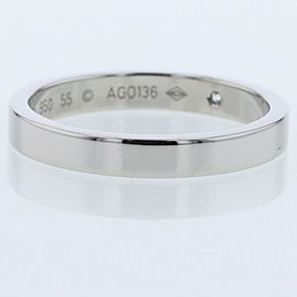 CARTIER platinum 1P diamond Engraved Ring TBRK-655