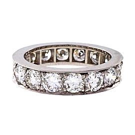 Vintage Platinum with 3.38ct Diamonds Eternity Wedding Band Ring Size 6