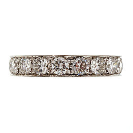 Platinum with 1.74ct Diamond Wedding Band Ring Size 6.5