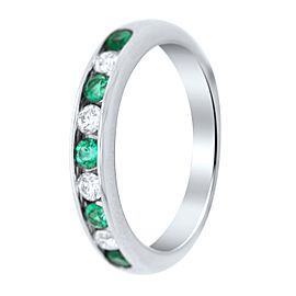 Tiffany & Co. Platinum Diamond and Emerald Ring