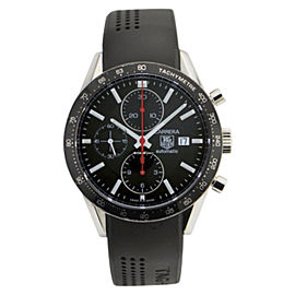 Tag Heuer Carrera CV2014-2 Stainless Steel / Rubber Mens Watch