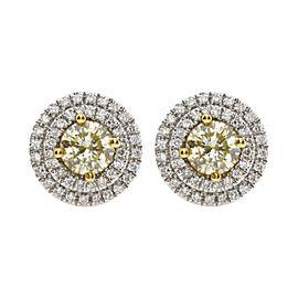 1.36 Carat Natural Yellow Diamond Earrings