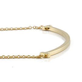 TIFFANY&Co. 18K yellow Gold T smile small Necklace