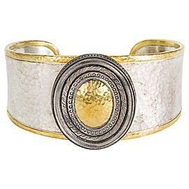 Gurhan Cavalier Cuff Bracelet in Sterling Silver & 24k Yellow Gold MSRP 4,450