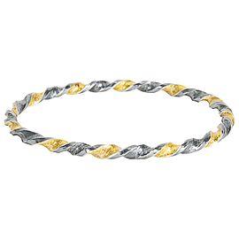 Gurhan Midnight Bangle Bracelet in Gold Plated Sterling Silver MSRP 2,400