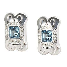 Gurhan '2014 Spring' Earrings with Blue Topaz in Sterling Silver MSRP 1625