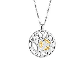 Di Modolo Ricamo Golden Quartz Pendant in Plated Rhodium MSRP 650