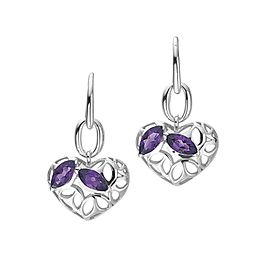 Di Modolo Ricamo Amethyst Drop Earrings in Plated Rhodium Retails for 295