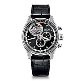ZENITH El Primero Tourbillon 03.2050.4035/21.C630 Black Alligator 44mm Mens Watch