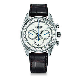 ZENITH El Primero 36'000 VPH 03.2080.400/01.C494 Black Alligator 42mm Mens Watch