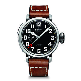 ZENITH Pilot Type 20 GMT 03.2430.693/21.C723 Brown Calfskin 48mm Mens Watch