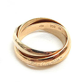 Cartier 18k Yellow Gold Trinity Three Color Ring size 54 / US 7 TBRK-336
