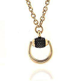 Gucci Horsebit Pendant Necklace 18K Rose Gold with Diamonds Medium