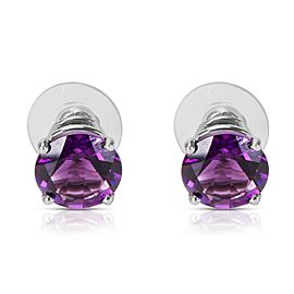 BRAND NEW Created Amethyst Fashion Earrings in Sterling Silver