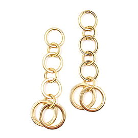 Tiffany & Co. 18K Yellow Gold Multi Circle Drop Dangle Earrings