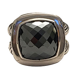 David Yurman 925 Sterling Silver & Hematine Cocktail Ring Size 6