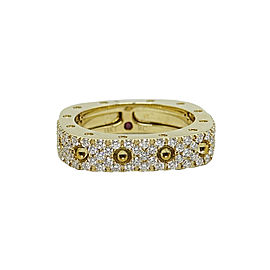 Roberto Coin 18K Yellow Gold with 0.67ct Diamond & Ruby Ring Size 6.5