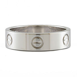 CARTIER 18k white Gold Mini love Ring HK-2081
