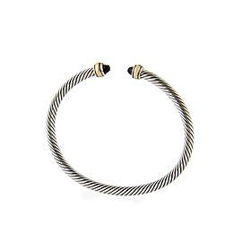 David Yurman 4mm Cable Bracelet with Black Onyx & 18K Gold