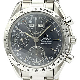 Polished OMEGA Speedmaster Triple Date Steel Automatic Watch 3521.80