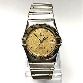 OMEGA CONSTELLATION Quartz 18K Yellow Gold & Steel Men's Watch