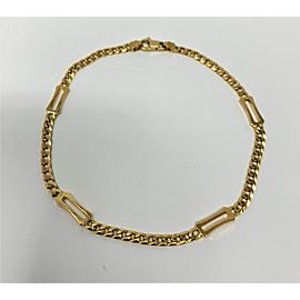 14K Yellow Gold Curb Link Chain Bracelet
