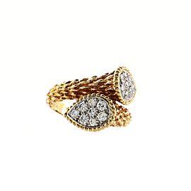 Boucheron Serpent Boheme Toi Et Moi Ring 18K Yellow Gold with Diamonds